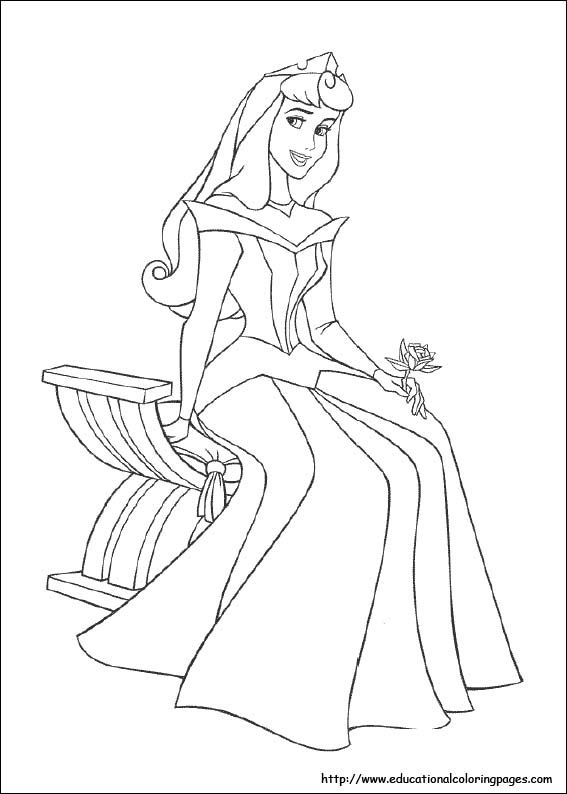Educational Fun Kids Coloring Pages And Preschool Skills Worksheets Disney Princess Coloring Pages Sleeping Beauty Coloring Pages Princess Coloring Pages