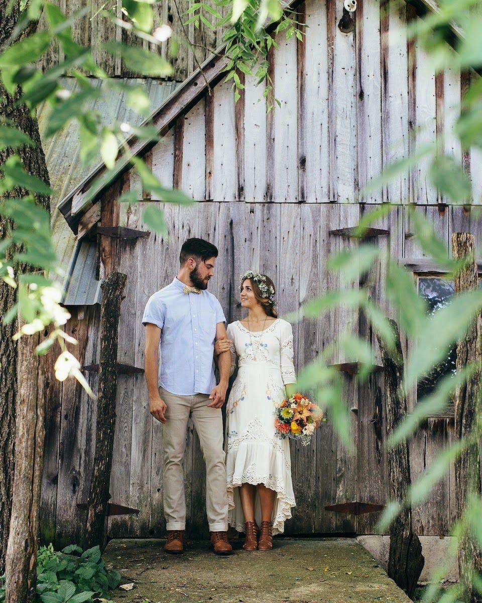 Sweet Little Backyard Homespun Wedding