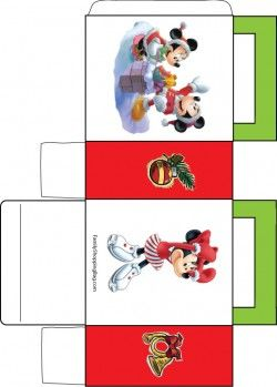 Lots of free printables, treat boxes, stationery etc  *Mickey Christmas Favor Box