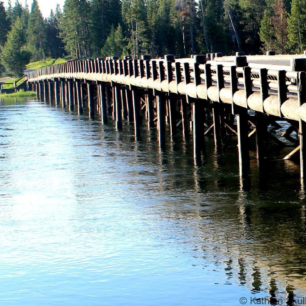 Postcard: Fishing Bridge, Yellowstone Lake, Yellowstone Na