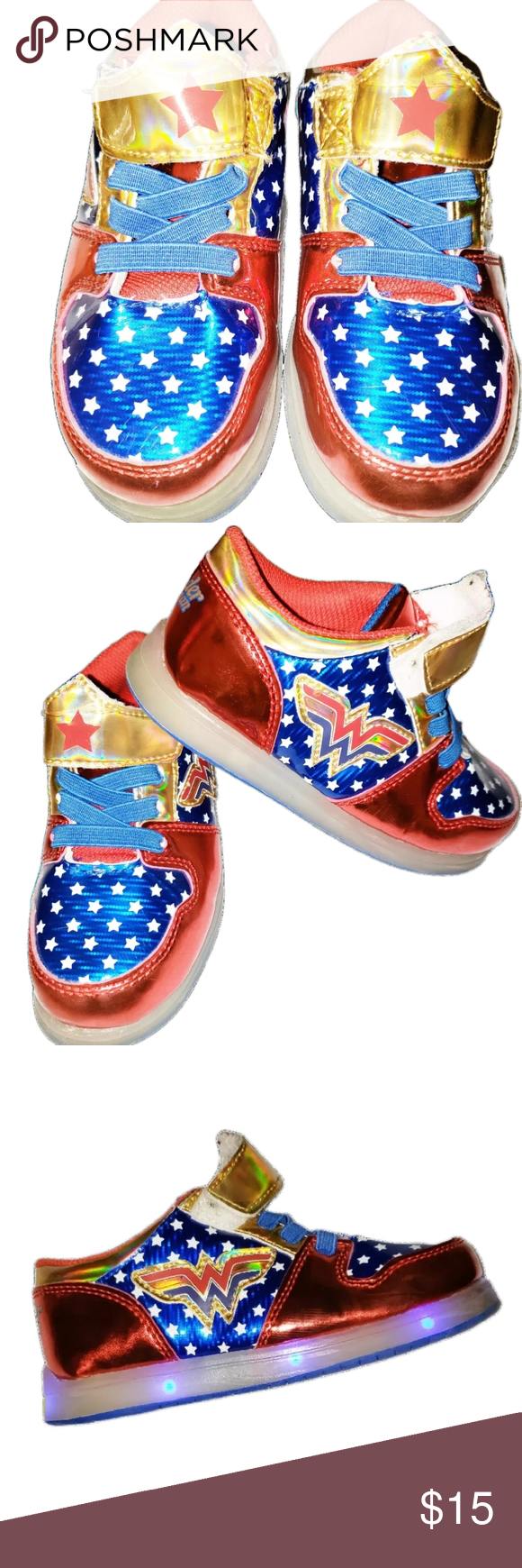 light up wonder woman shoes