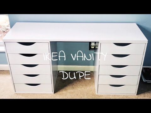DIY IKEA VANITY DUPE UNDER $100