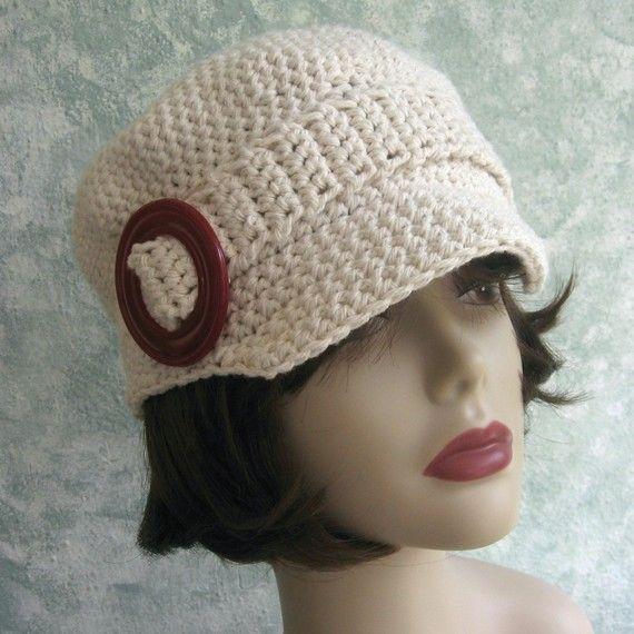 Crochet Newsboy Hat Pattern Womens And Teen Sizing Cotton Crochet