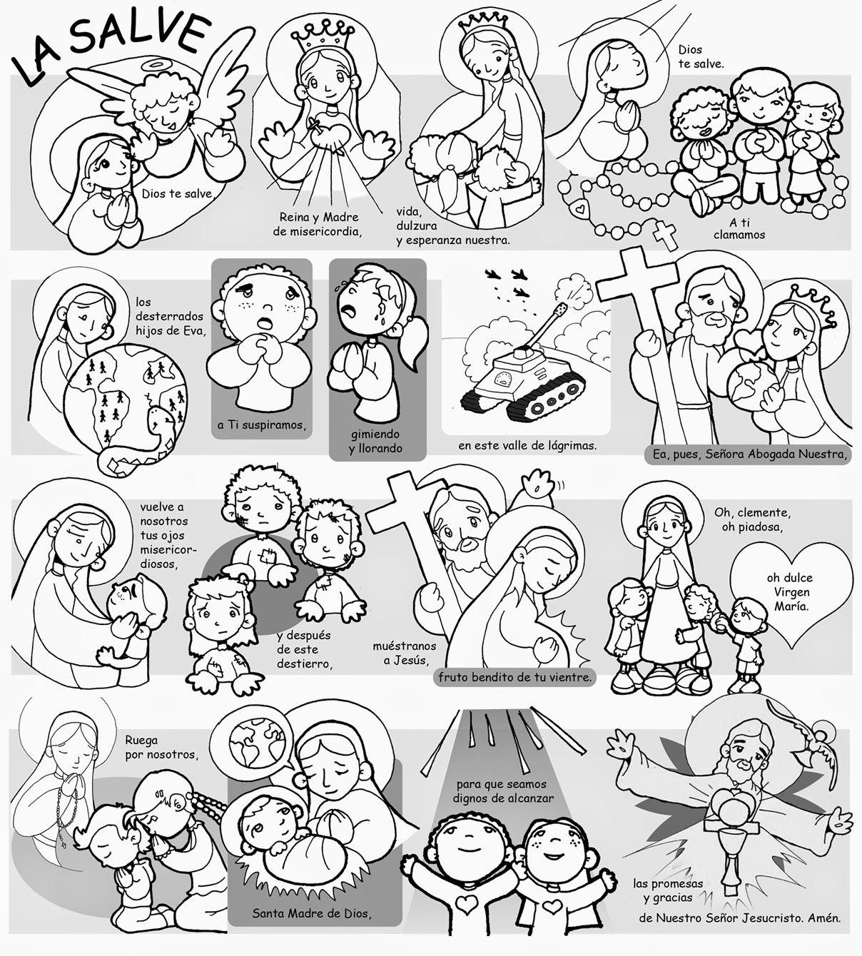 Dibujos para catequesis: LA SALVE | catequesis | Pinterest | Dibujo ...