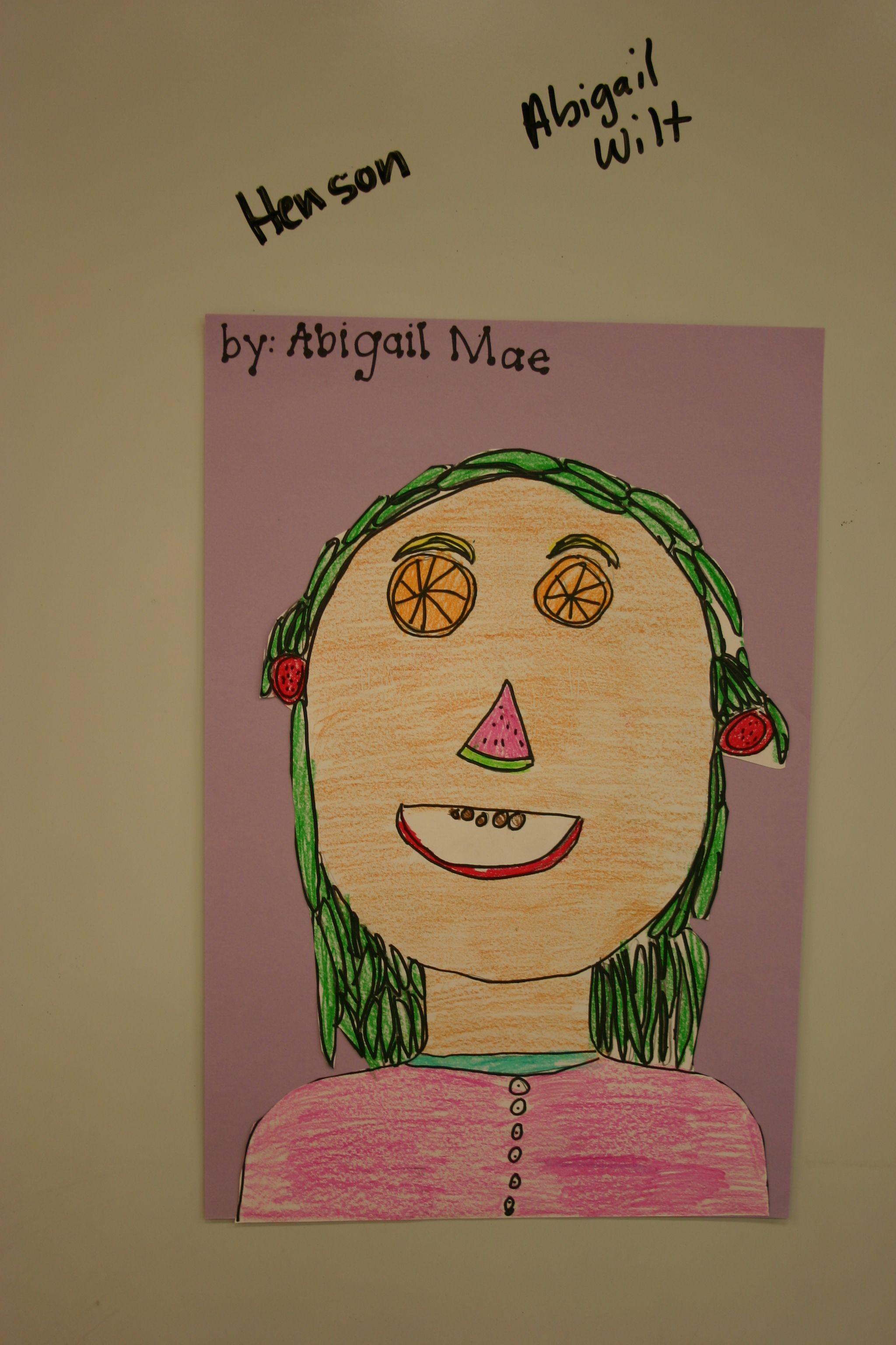 1st grade Archimboldo faces