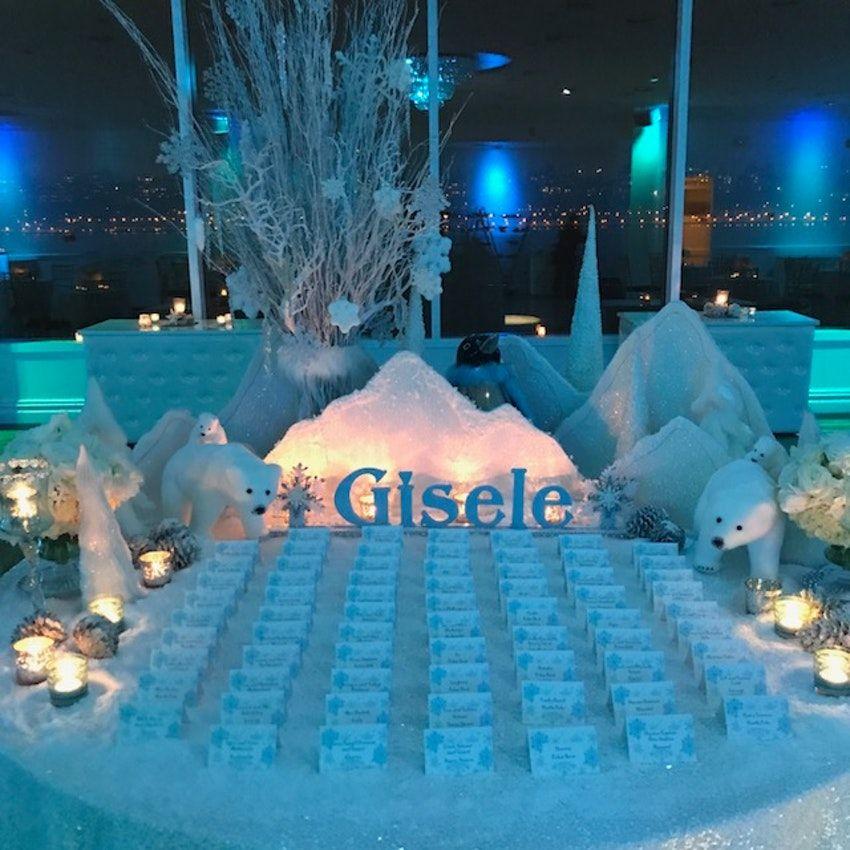 A Winter Wonderland 1st Birthday Celebration Planer Amg Events And Visuals Venue Waterside Milestone Birthday Party Milestone Birthdays Custom Birthday