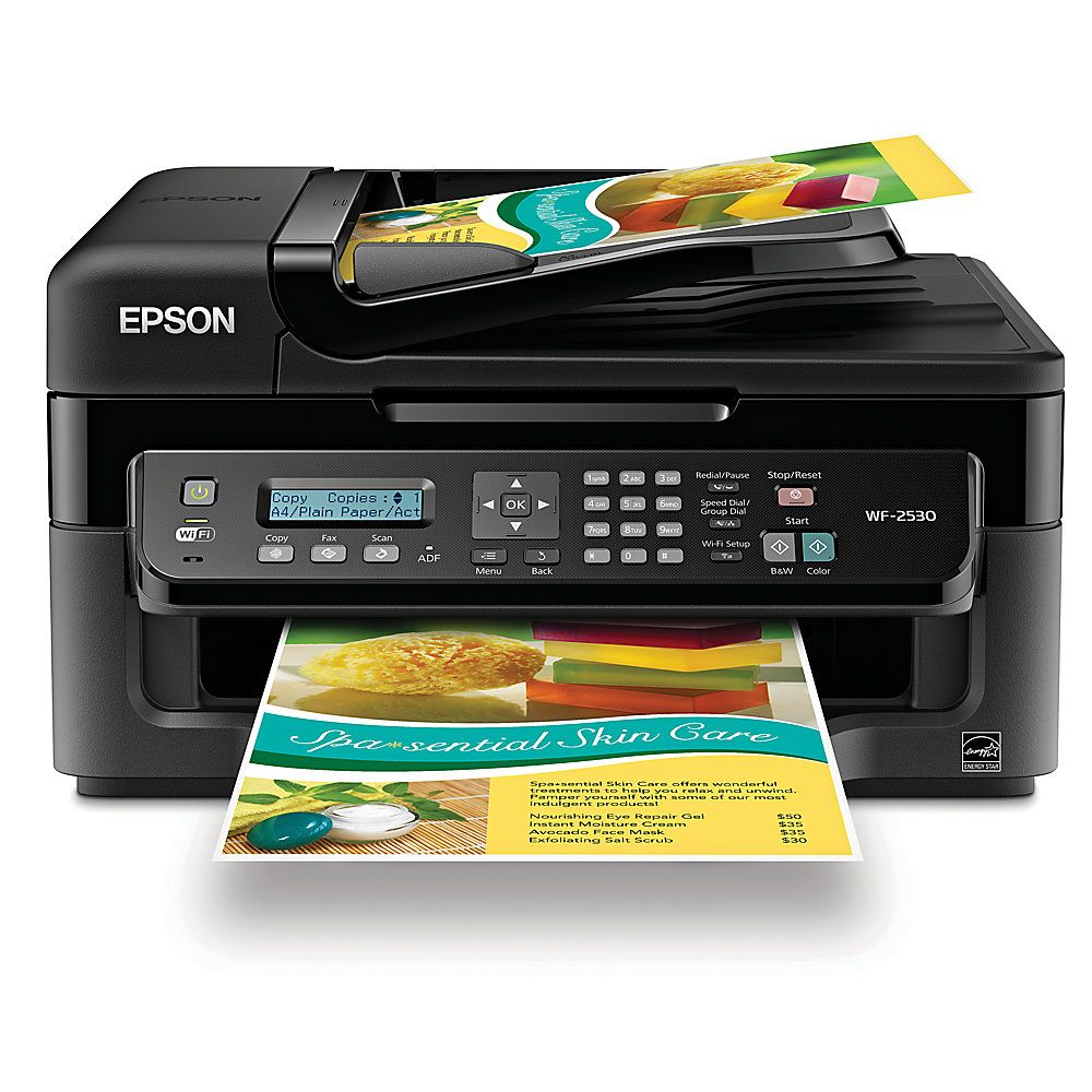 Color printing office depot - Epson Workforce Wf 2530 All In One Printer Copier Scanner Fax By Office Depot