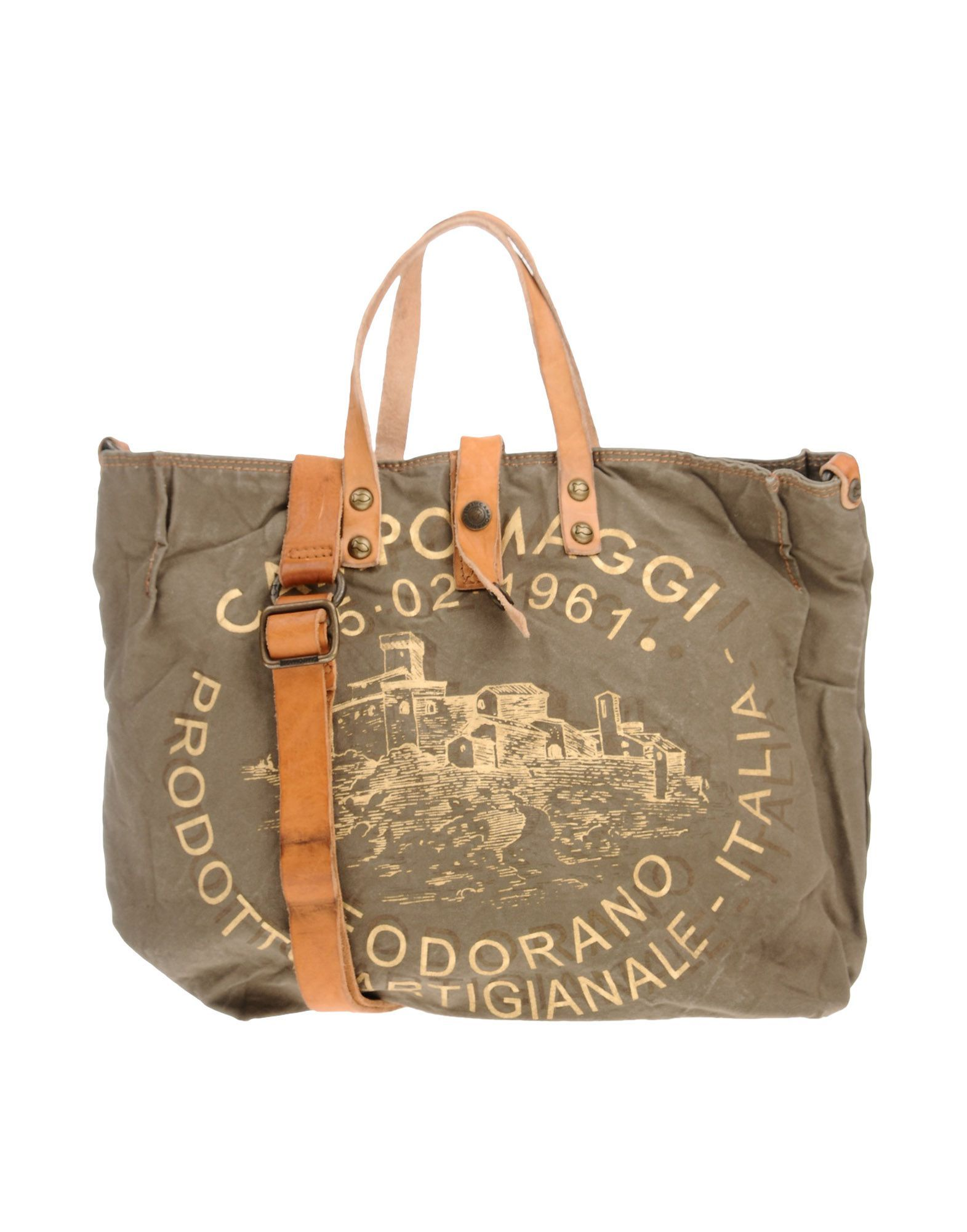 Campomaggi Bags Leather Hand Canvas Cotton