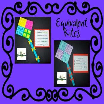 Equivalent Fractions Kite Art Project Crafts, End of and Student - kite template
