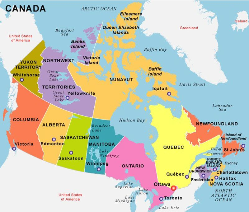 Canada Capital Ottawa Dialing Code Founded July - Capital of canada map