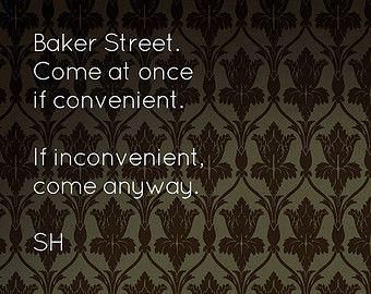 221b Baker Street Wallpaper Poster Print 11 X 17 Glossy 221b