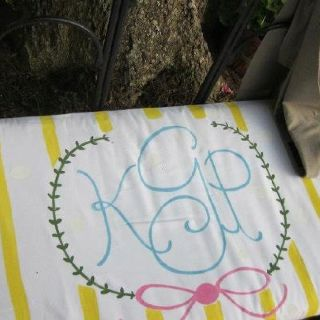 Hand painted monograms  I painted this monogram