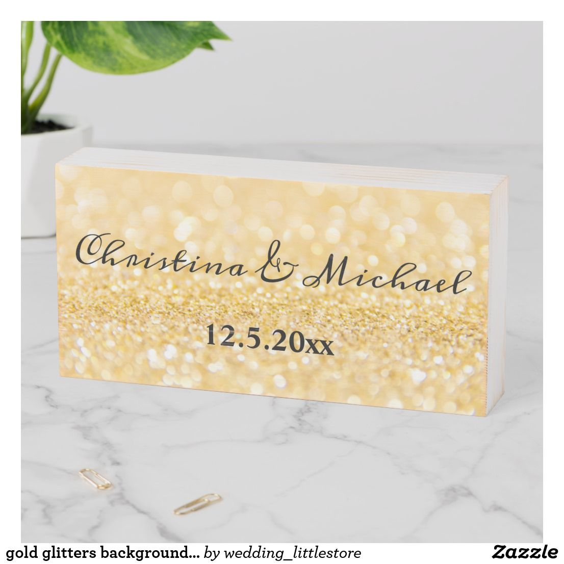 gold glitters background,custom wooden box sign   Zazzle.com #goldglitterbackground
