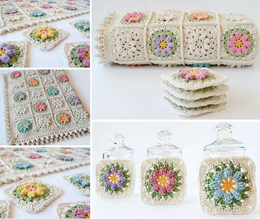 Primavera Crochet Square Pattern Free Ideas You\'ll Love | Flores de ...