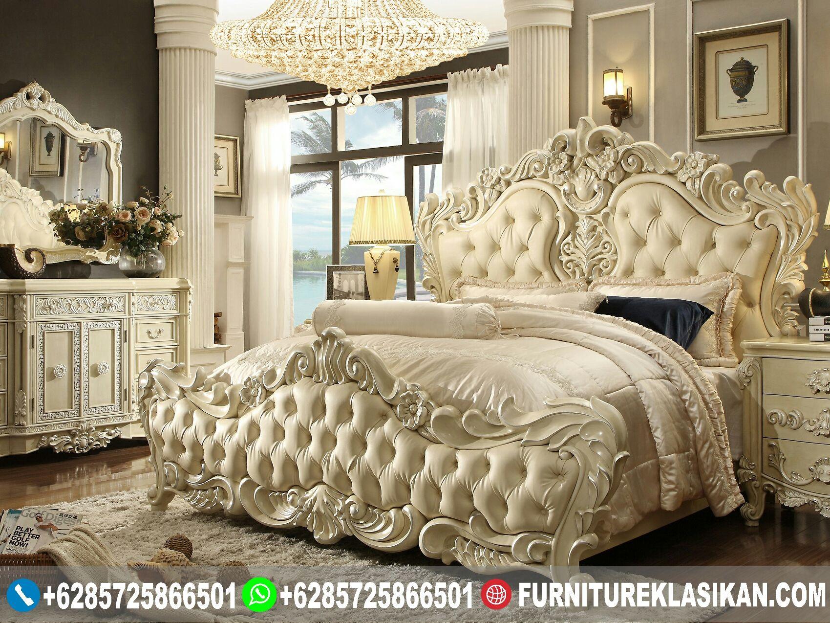 tempat tidur ukiran jepara classic modern Kamar
