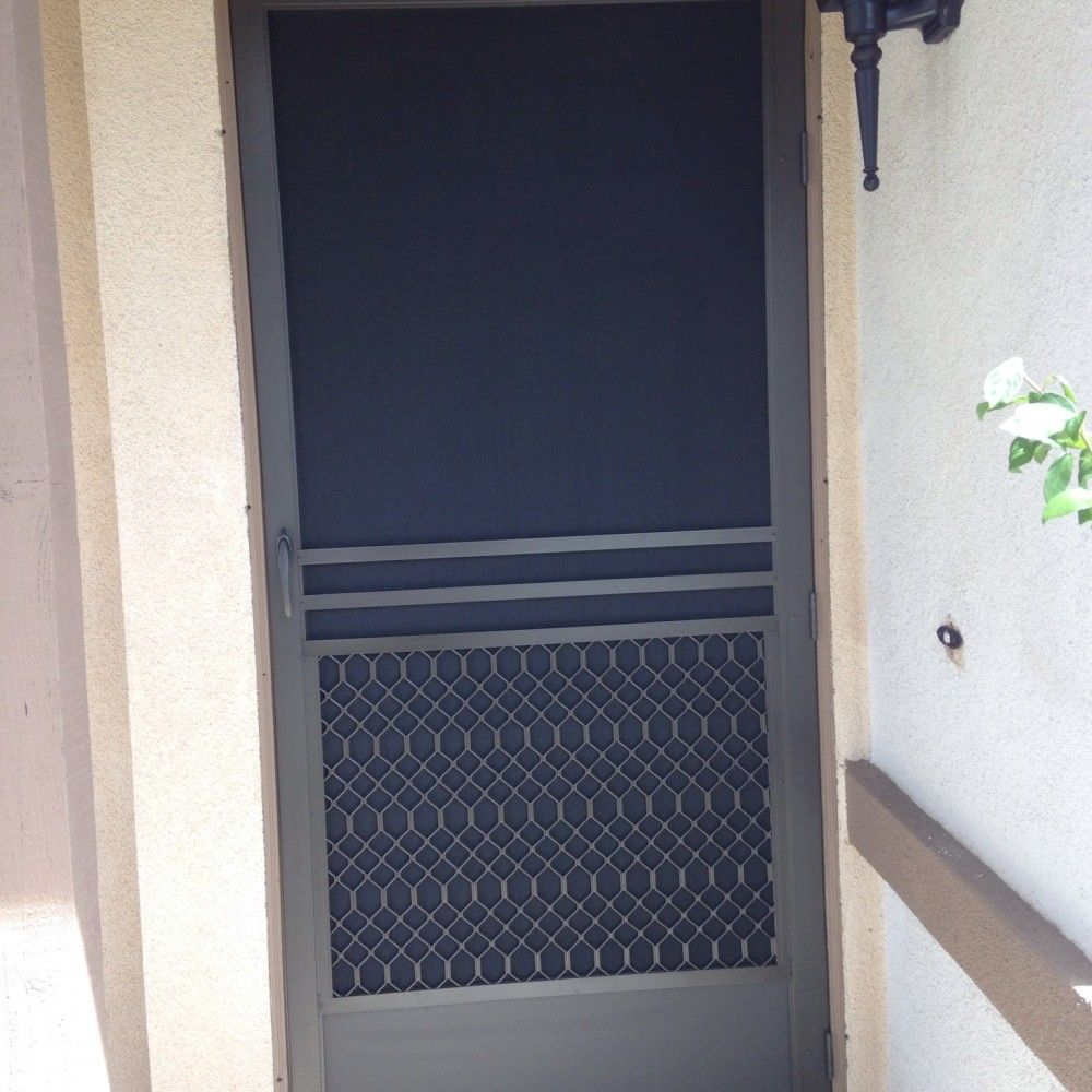 Custom Swinging Screen Door Made Of Extruded Aluminum To Keep The
