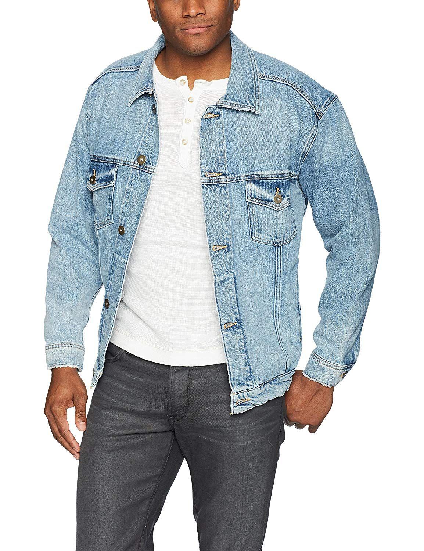 Hudson Jeans Men S Denim Trucker Jacket Mens Jacket Brands Stylish Jackets Mens Denim [ 1500 x 1154 Pixel ]