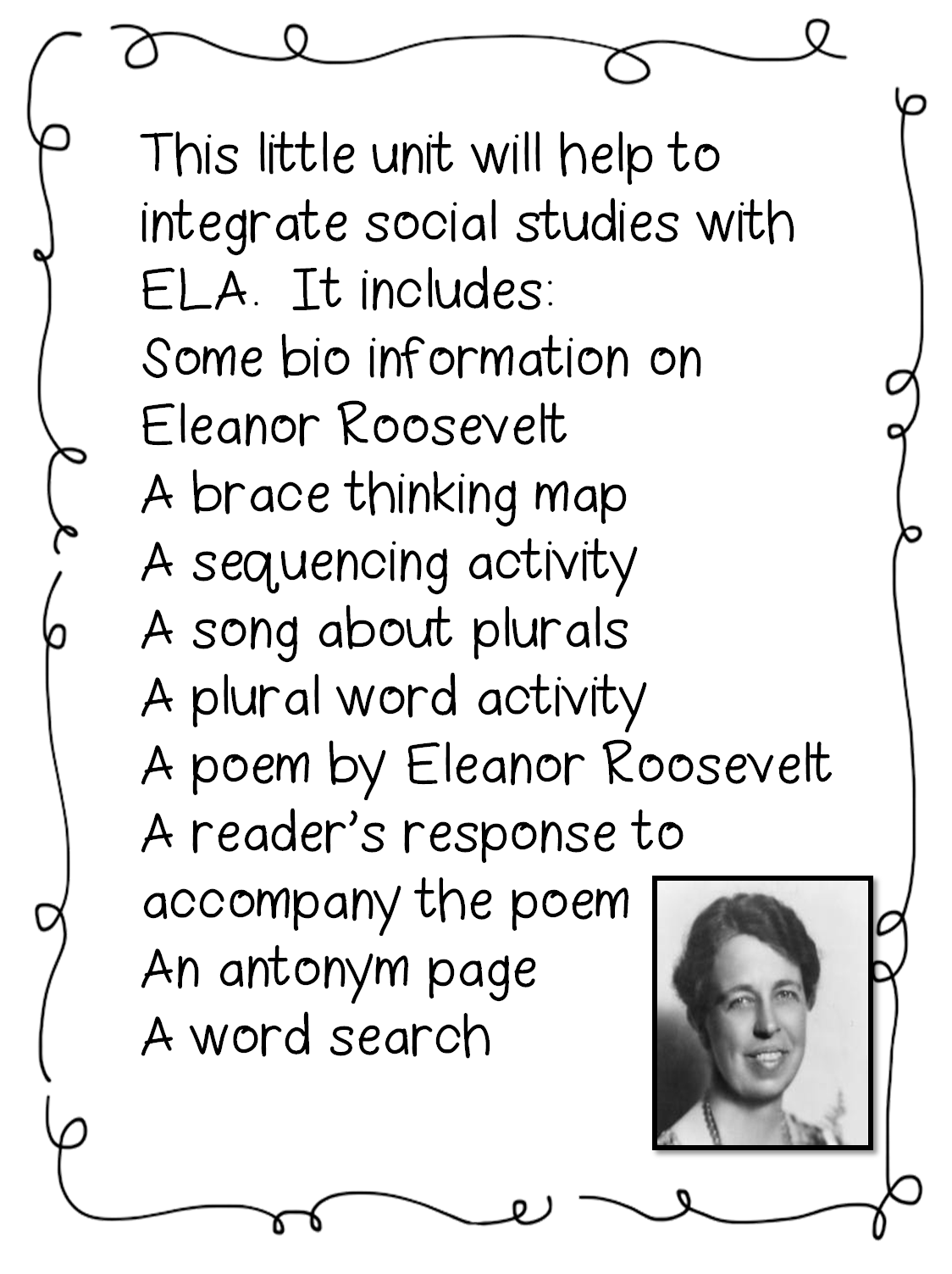 First Lady Eleanor Roosevelt Young Girl Coloring Page
