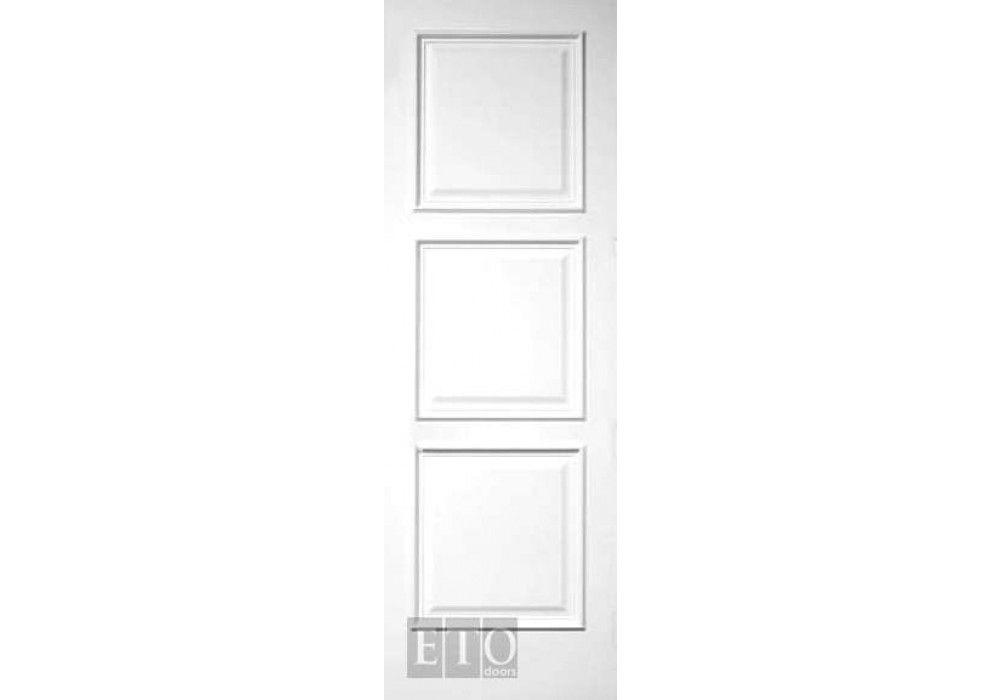 mil7516 3 even panel square top white primed interior door 1 3