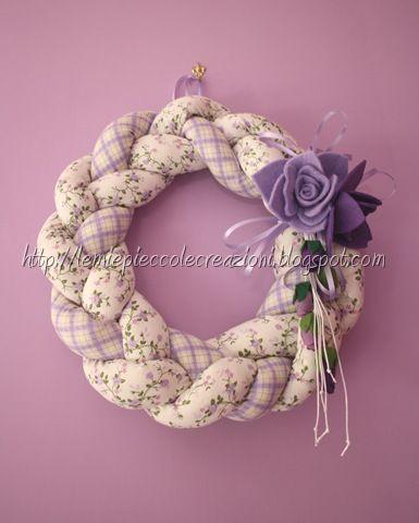 Treccia di stoffa handmade flowers tutorials for Tutorial fermaporta di stoffa