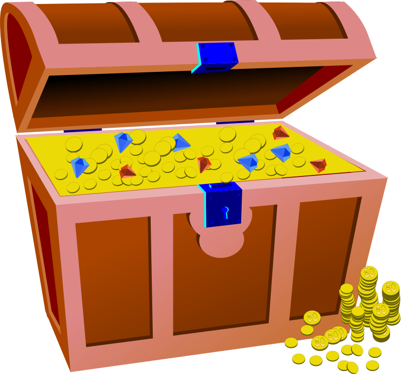 37++ Treasure chest clipart png info
