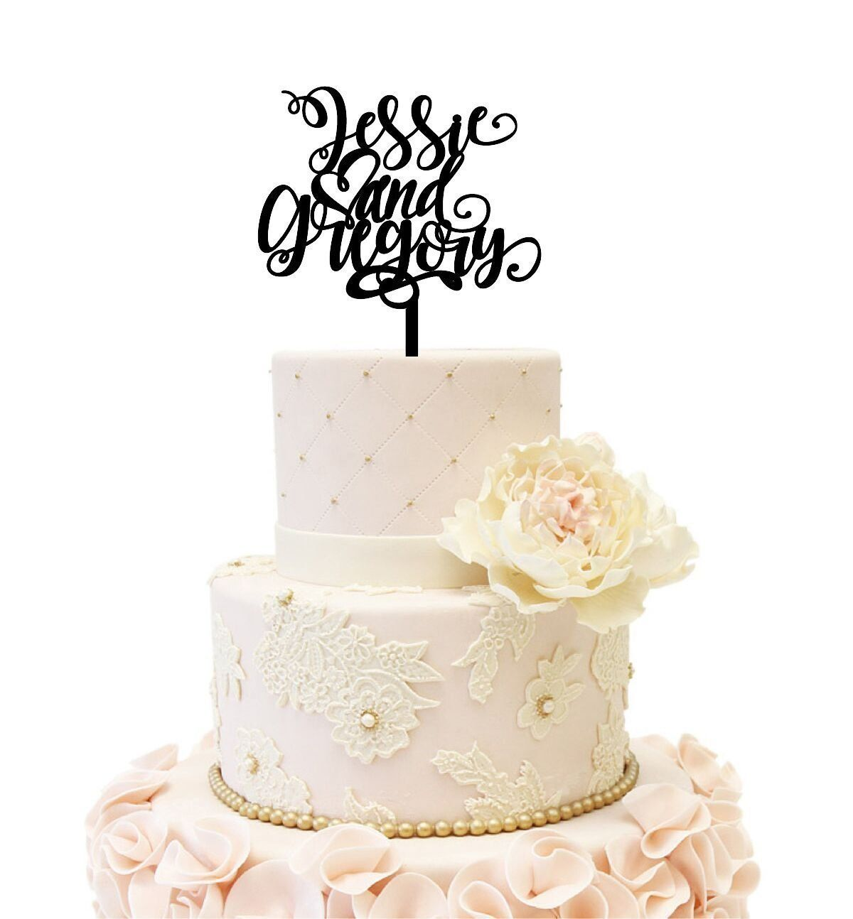 Personalized names wedding anniversary acrylic cake topper many