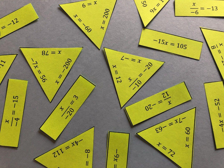 Multiplication Amp Division Equations Puzzle