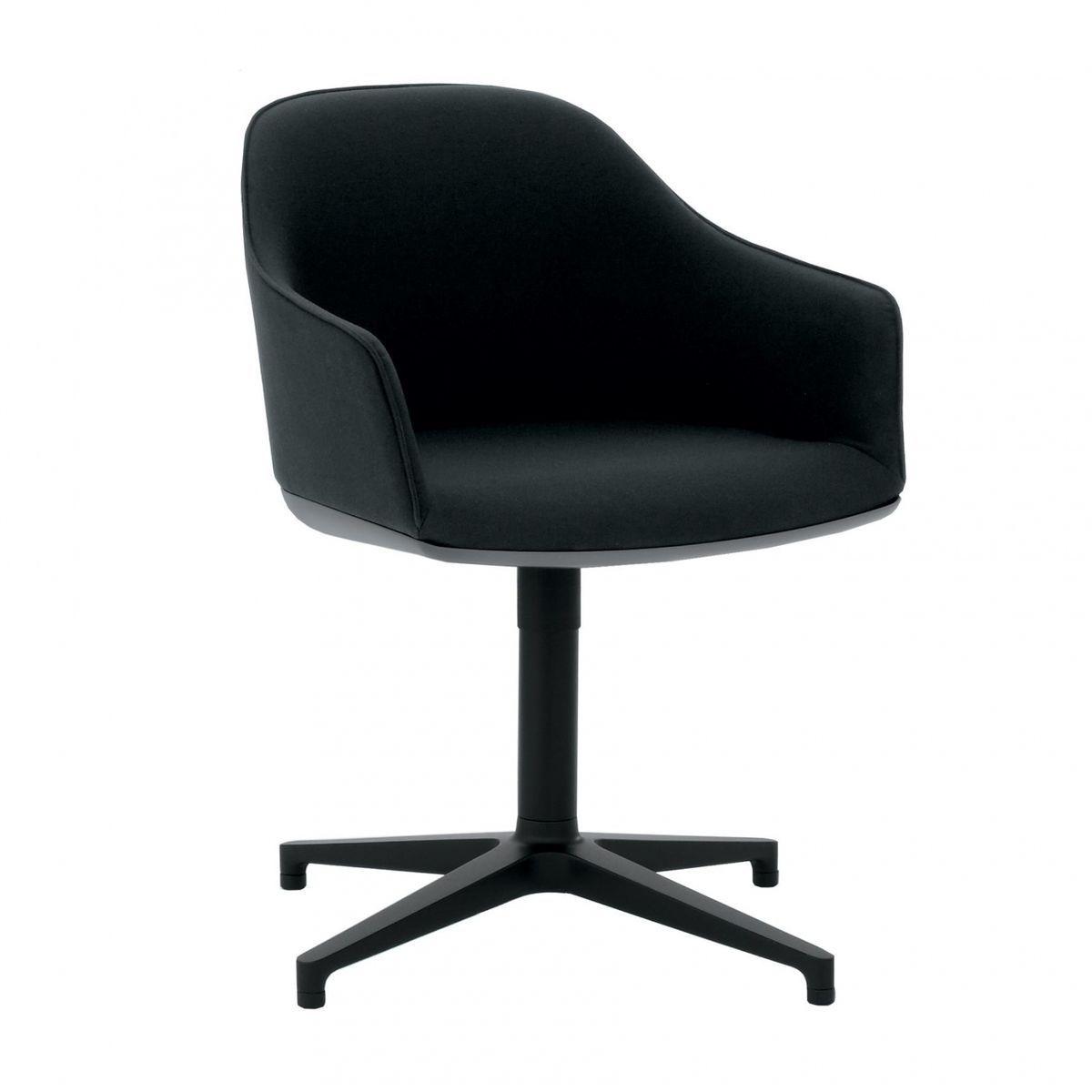 Konferenzstuhl vitra  Vitra - Softshell Chair Konferenzstuhl - schwarz/Stoff/Gestell ...