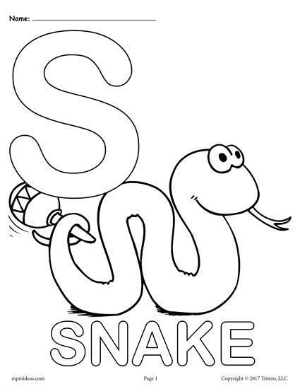 Letter S Alphabet Coloring Pages 3