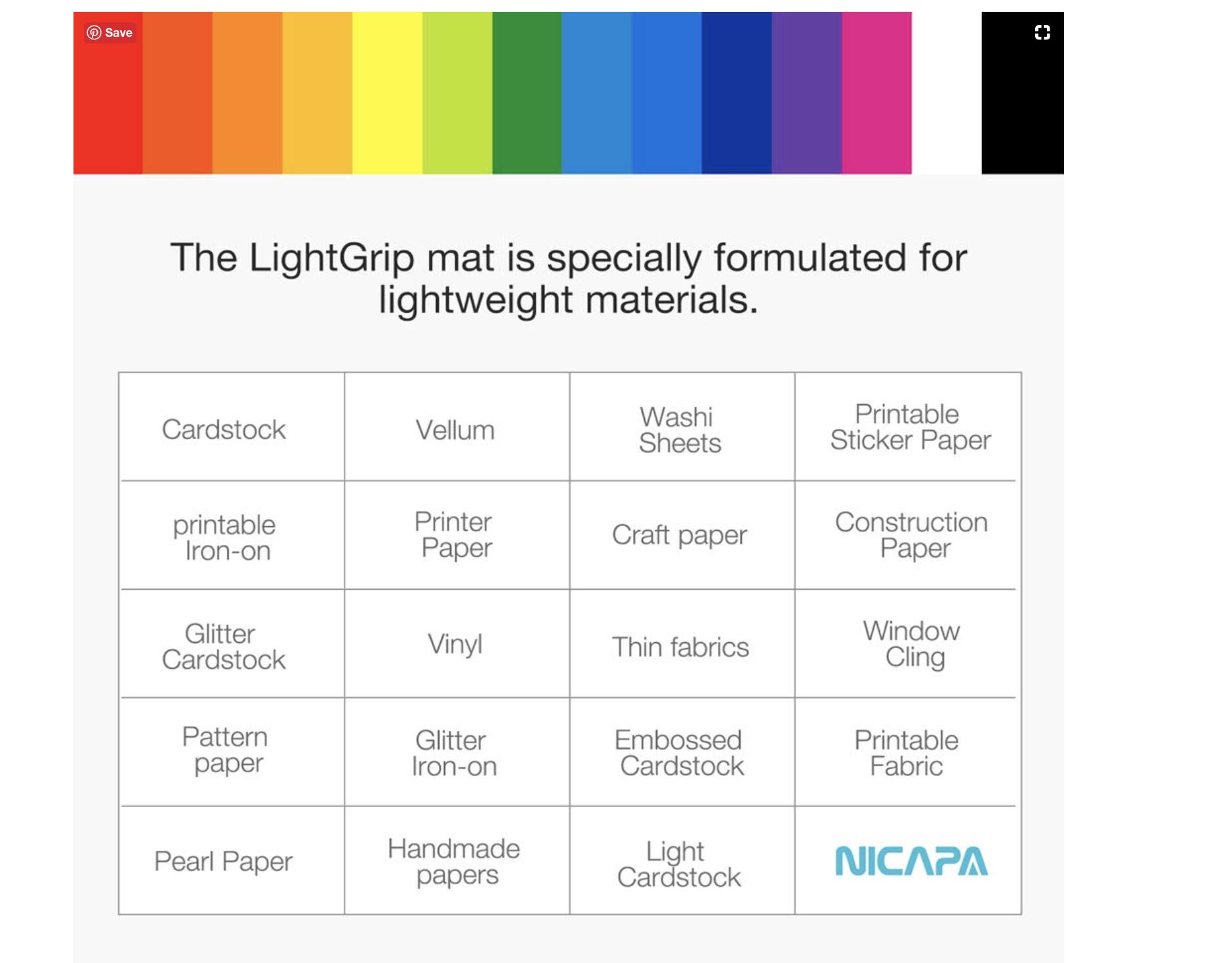 Nicapa Light Grip Mat Silhouette Tutorials Sticker Paper Sticker Sheets