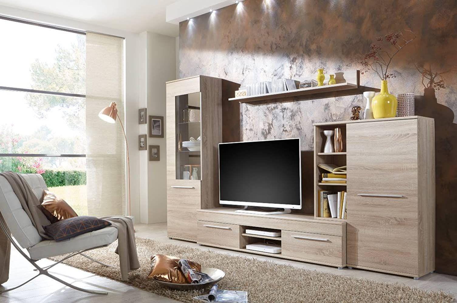 Bmg Mobel Wohnwand Wohnzimmerschrank Fernseh Schrank Anbauwand Tv