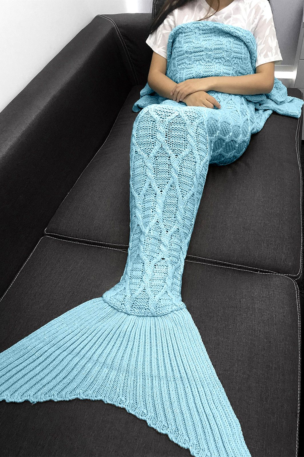 Simple style solid color crochet knitting geometric pattern 2144 simple style solid color crochet knitting geometric pattern mermaid tail design blanket bankloansurffo Choice Image