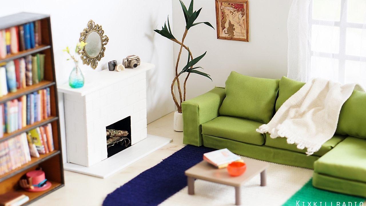 diy dollhouse furniture. DIY Dollhouse - Miniature Living Room Set For Toy Photography Nendoroi. Diy Furniture