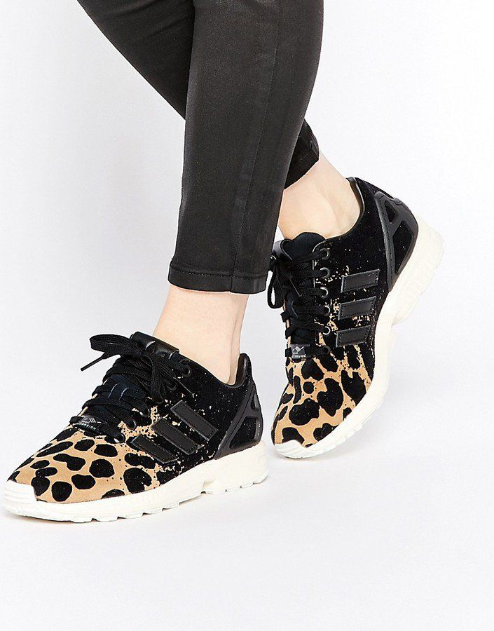 61be98823a4 Pin for Later  24 Cool Pairs of Trainers That Wont Make You Compromise  Comfort For Style adidas ZX Flux Ombre Animal Print Trainers adidas ZX Flux  Ombre ...