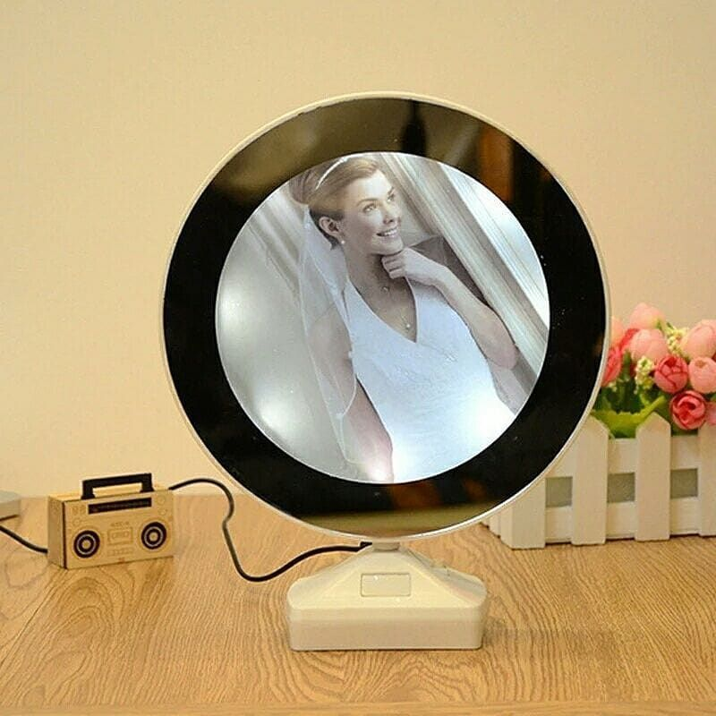 Magic Mirror Photo Frame Can Be Used As A Mirror As Well As A Photo Frame With Led Lights Size 1318cm Usb And Battery Mirror Photo Frames Mirror Led Mirror