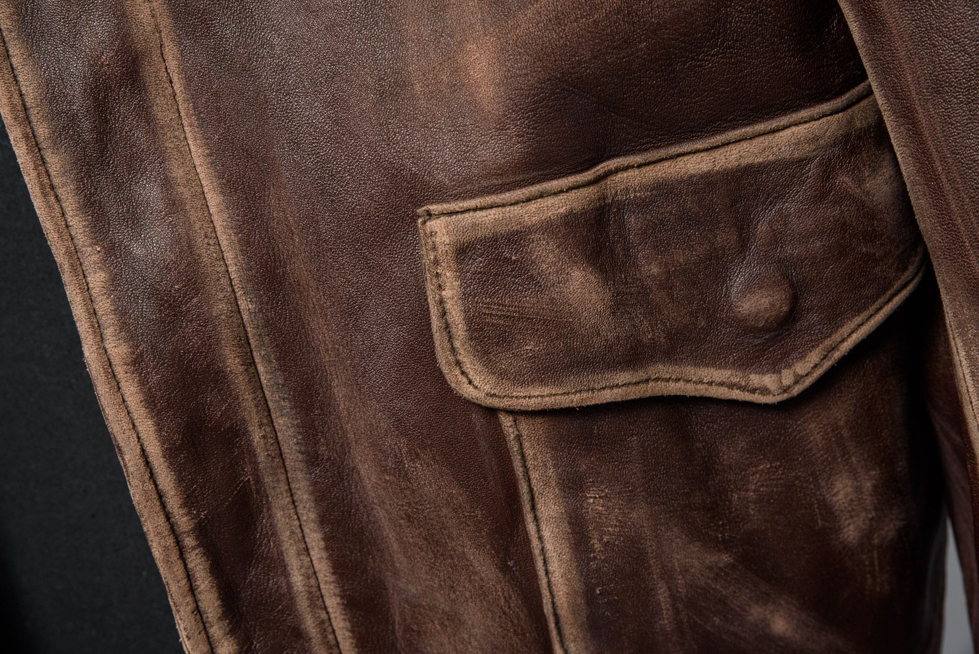 Leather Jacket Worn By Harrison Ford As Indiana Jones In Indiana Jones And The Last Crusade 1989 From The Paul G Allen Science Fiction Indiana Jones Fiction [ 1282 x 1920 Pixel ]