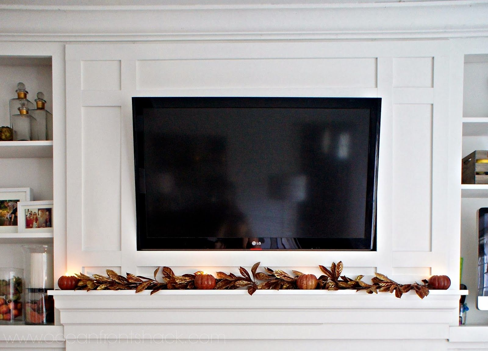Framing in our TV over the Fireplace | Ocean Front Shack | Build it ...