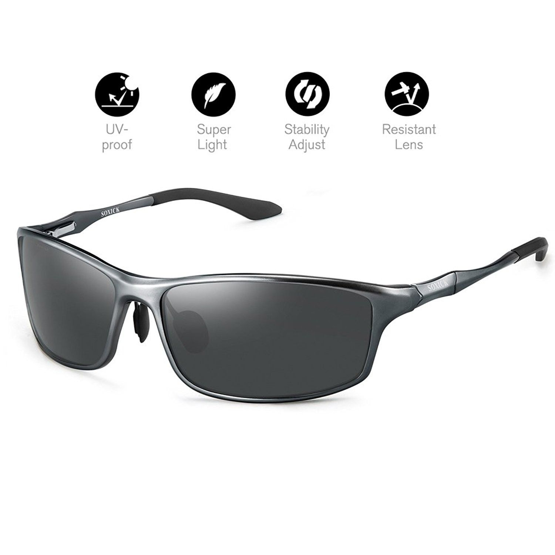 Polarized Sports Sunglasses For Men UV400 Metal Classic