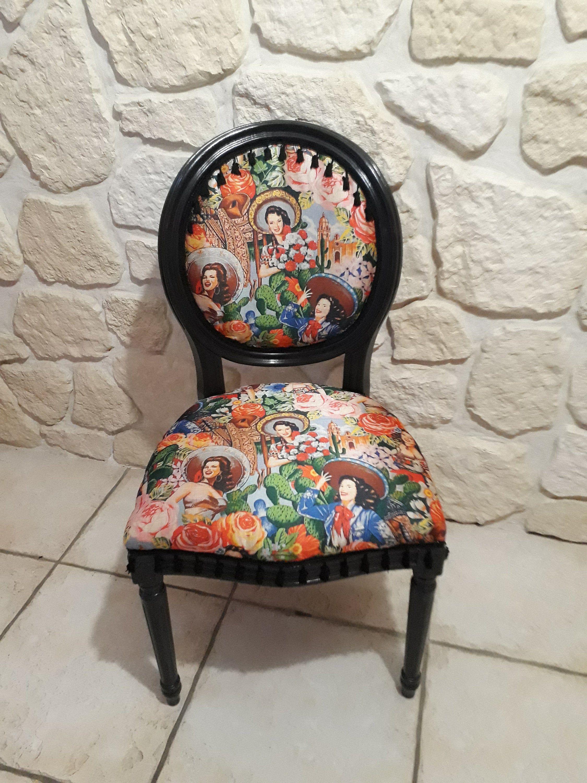 Renover Une Chaise Medaillon chaise médaillon relookée style boho et patinée | chaise