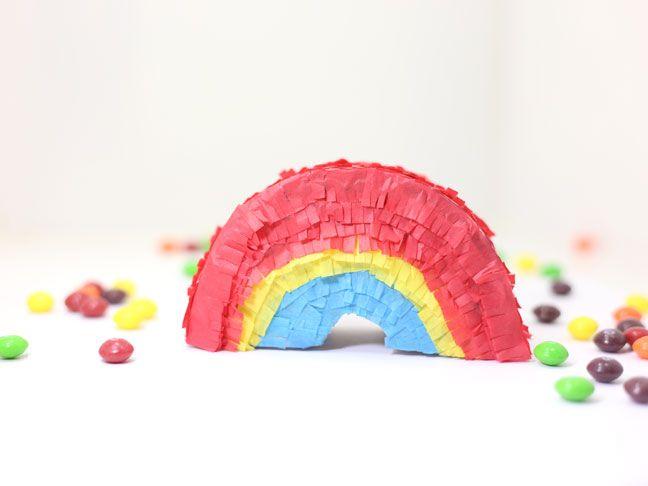 Free Template DIY Mini Rainbow Piñatas Rainbows, Mini pinatas - rainbow template