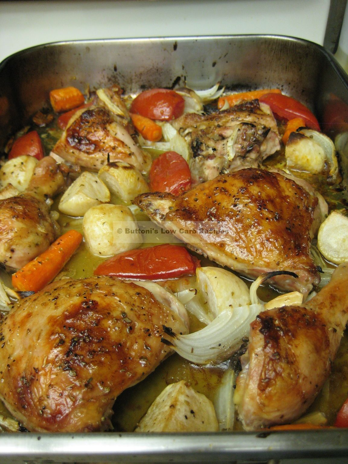 Lebanese Baked Chicken (frarej)