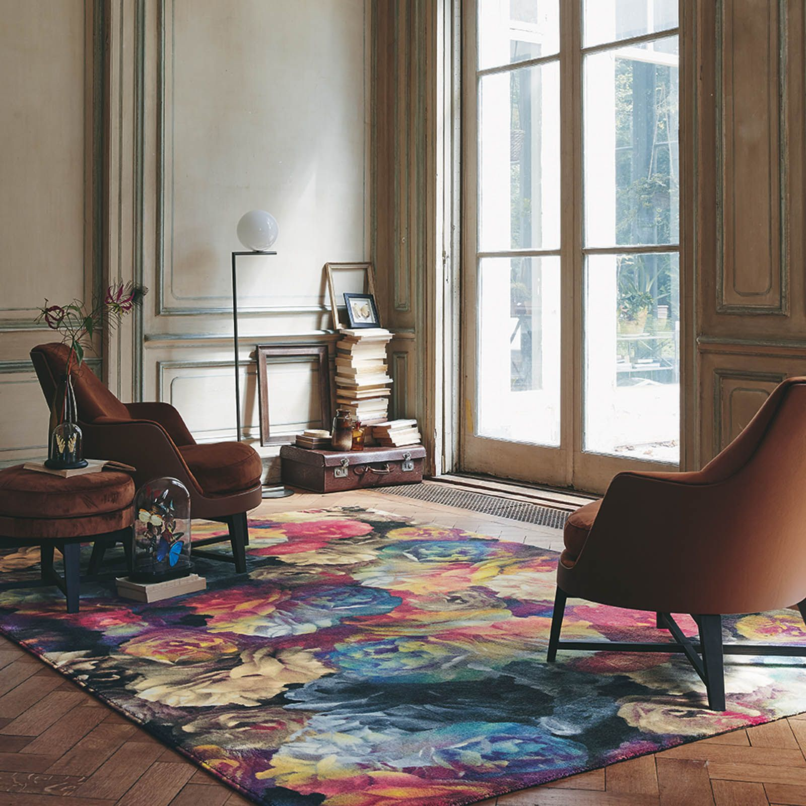 A bloom of animated flowers floods this interior with character technibloom rugs 58305 by ted baker free uk delivery the rug seller baanklon Images
