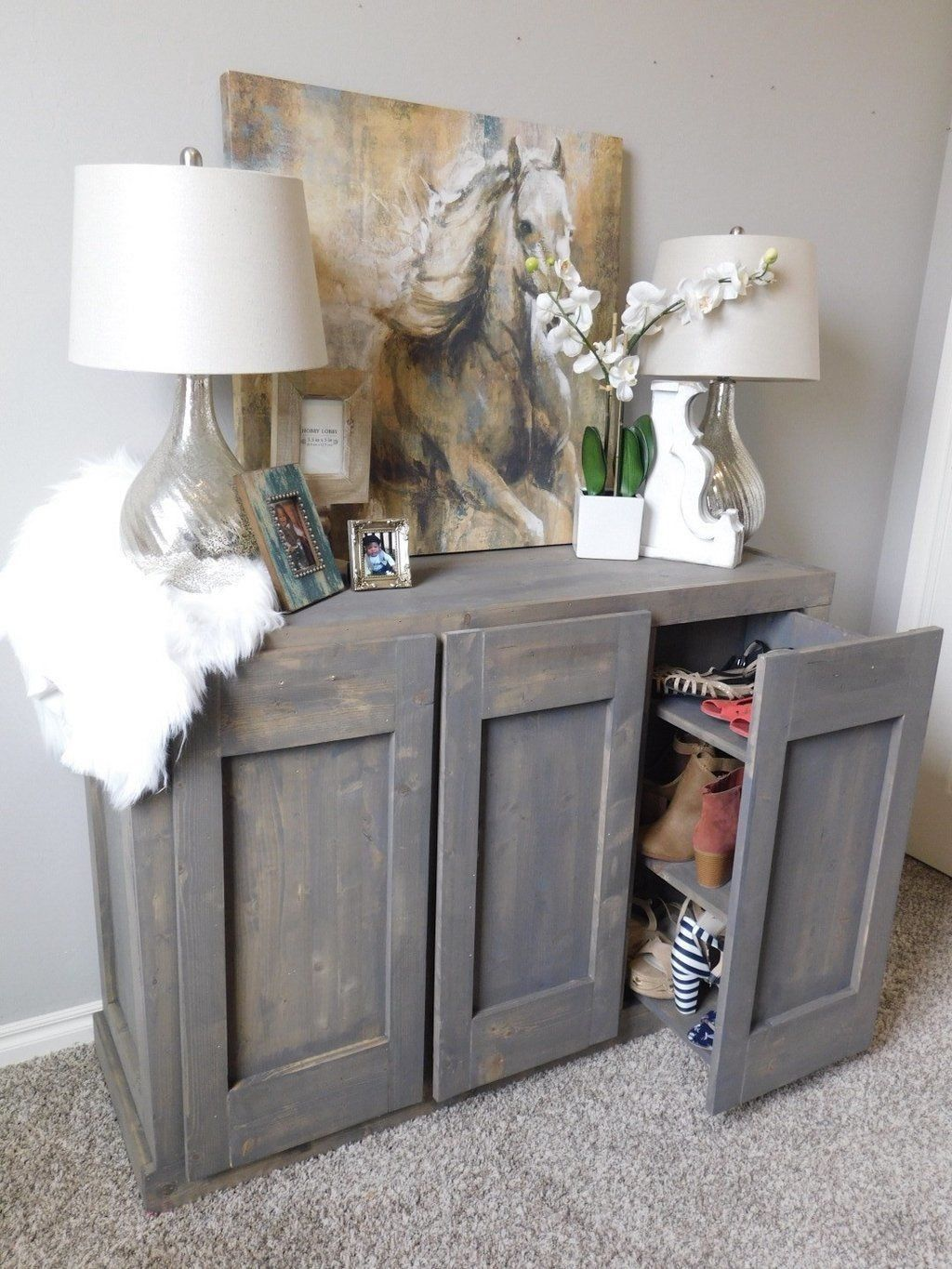 Hidden Shoe Cabinet Do It Yourself Today Pinterest Shoe