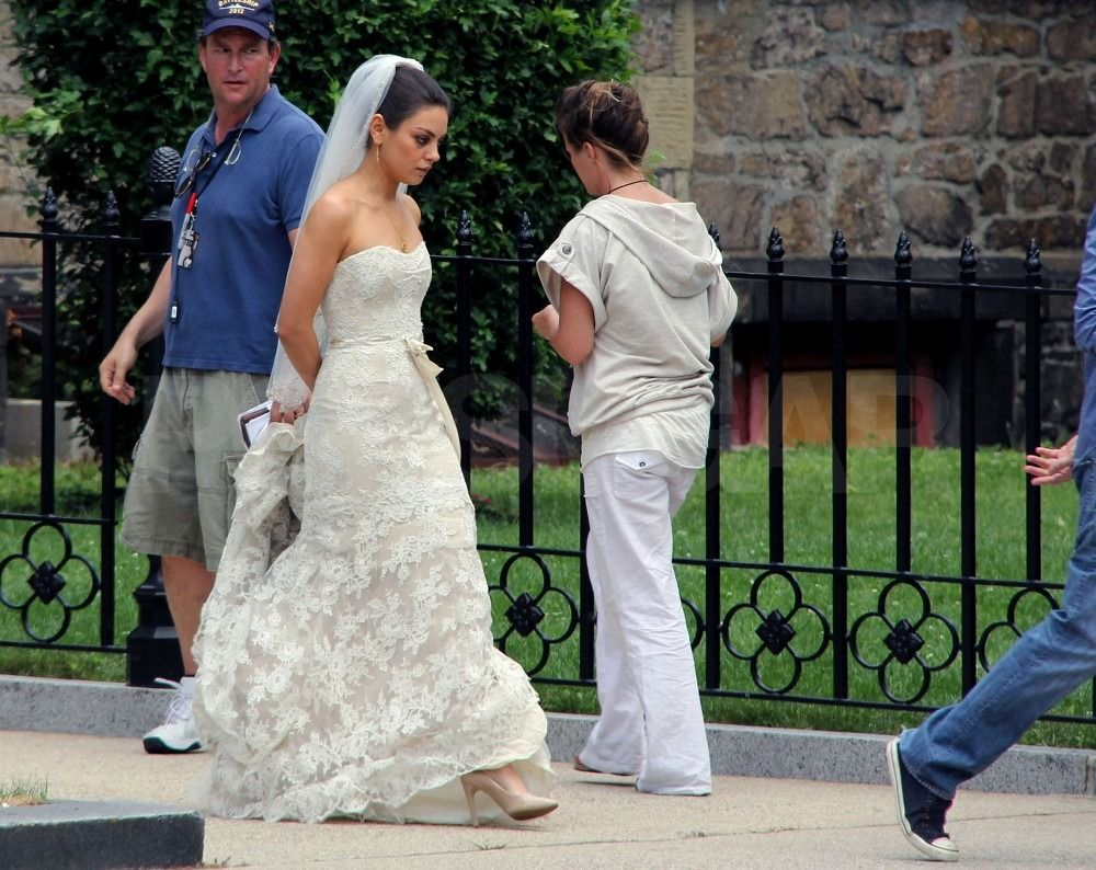 Mila Kunis And Mark Wahlberg Start Their Holiday Weekend With A Lavish Wedding Wedding Dresses Wedding Dress Pictures Wedding Scene