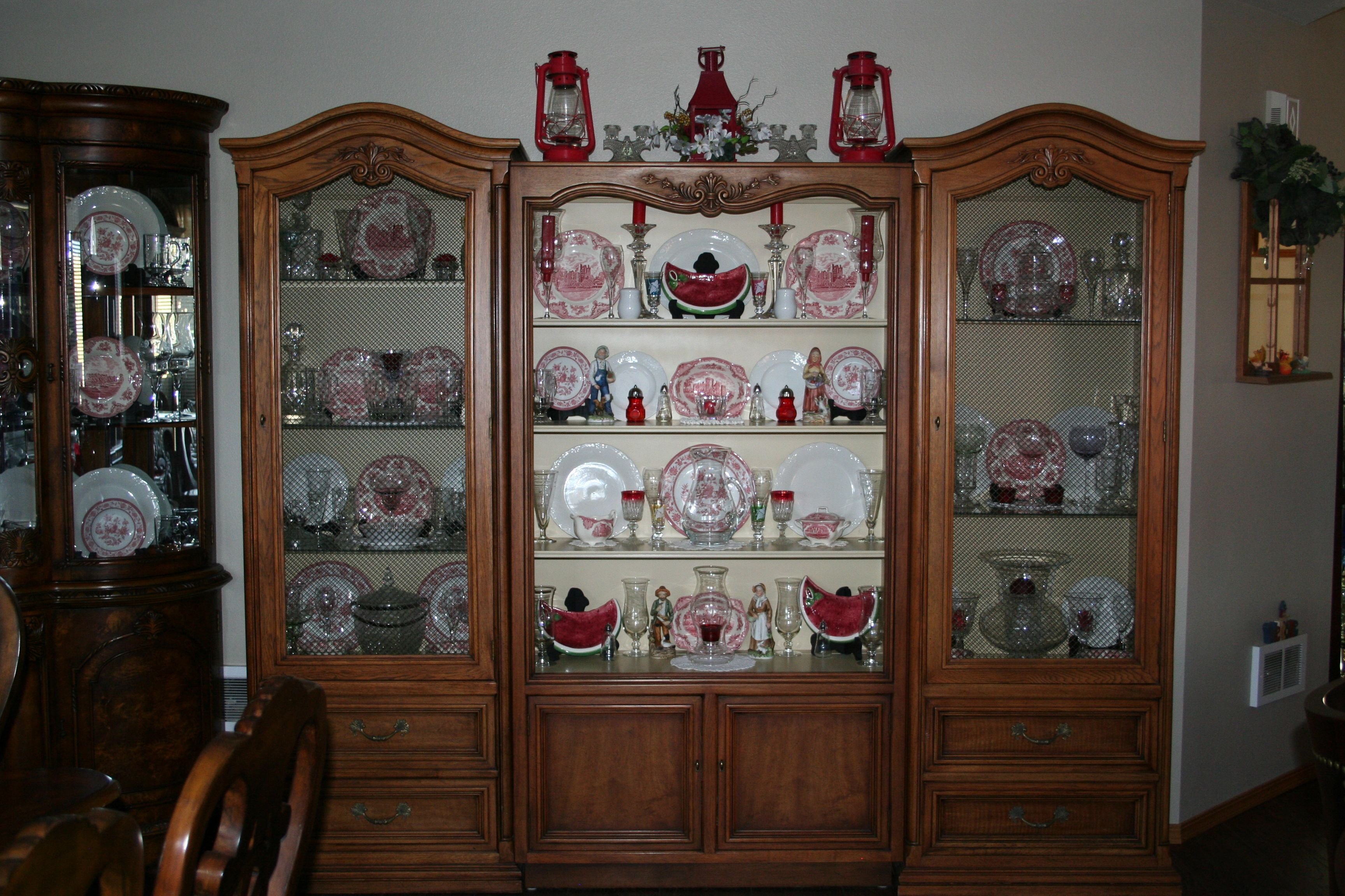 Punk Kerr: My Large China Cabinet Decorated With Johnson Brothers Old  British Castle Dishes.