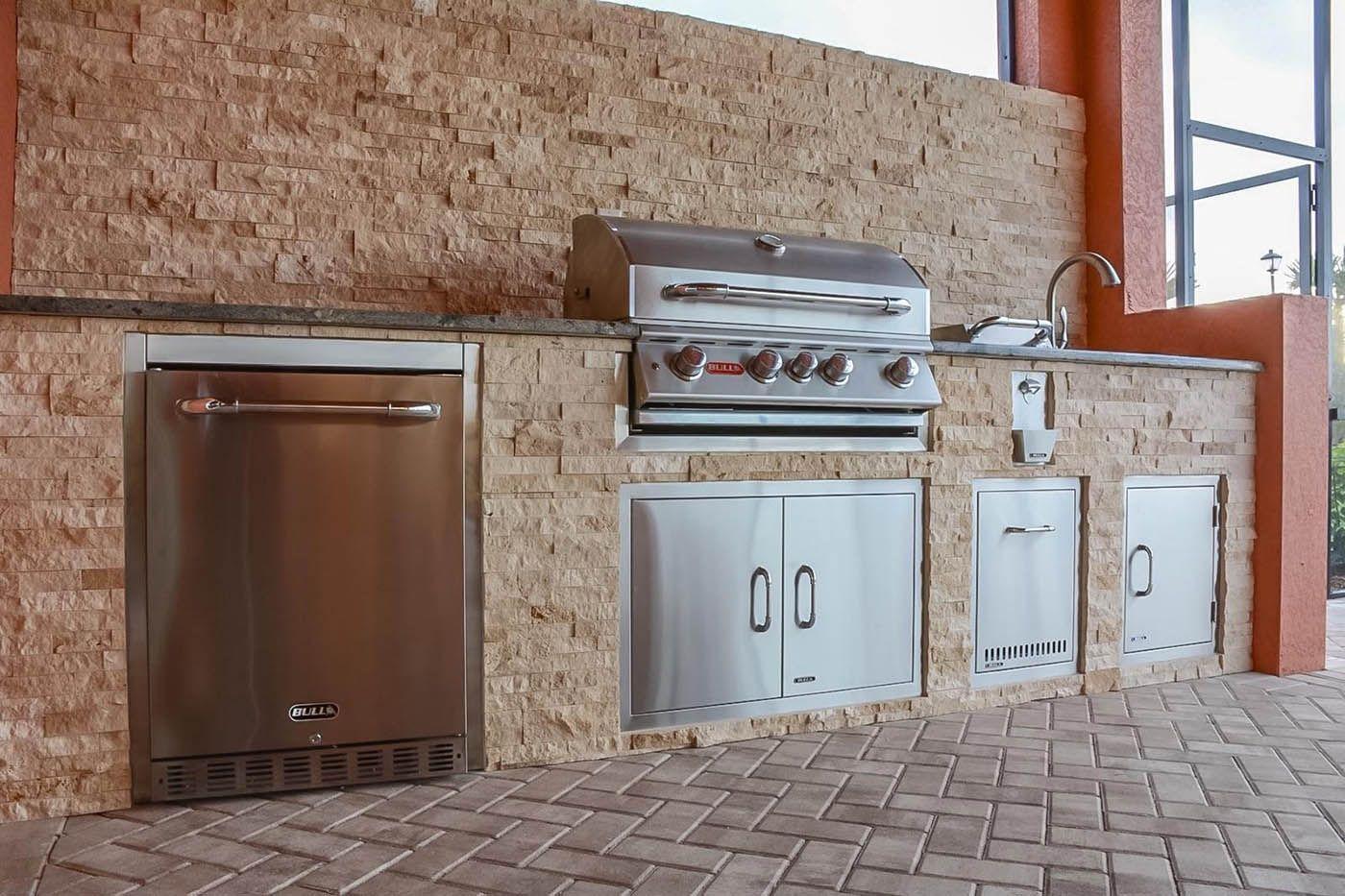 Pelican Preserve Grand Villa Barbecue Island Outdoor Kitchen Kitchen Barbecue