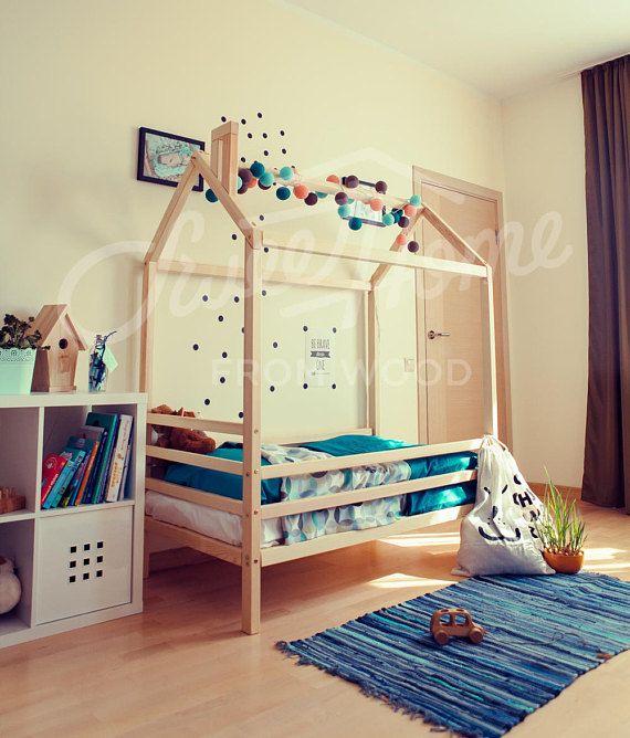 Bed House FULL DOUBLE Children Furniture Nursery Crib Montessori Baby
