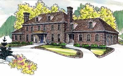 English Country Style House Plans   6234 Square Foot Home   3 Story     English Country Style House Plans   6234 Square Foot Home   3 Story  6  Bedroom and 6 Bath  3 Garage Stalls by Monster House Plans   Plan 17 489