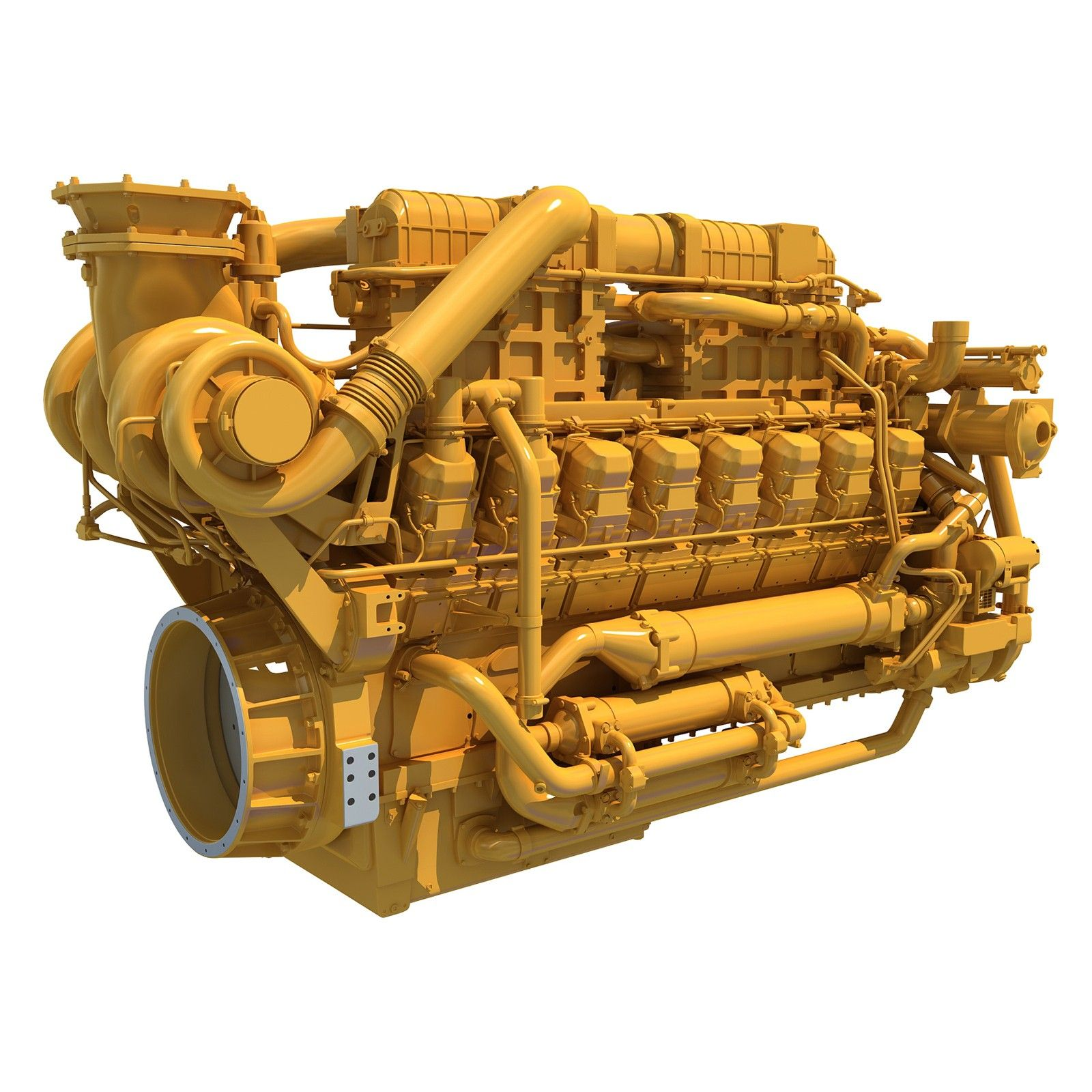 2017 Caterpillar Marine Propulsion Engine 3D Model #Caterpillar  #MarineEngine #3DModel