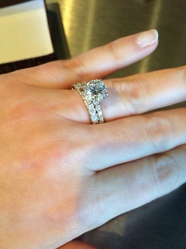 Show Off Your 2 Ct Round Solitaire On Size 5 Finger